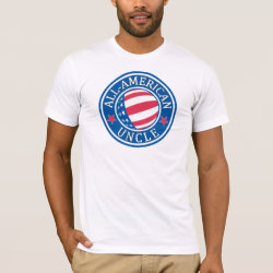 Men's Basic American Apparel T-Shirt with All-American Uncle design