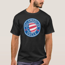 Men's Basic Dark T-Shirt with All-American Uncle design