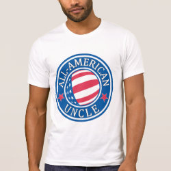 Men's Alternative Apparel Basic Crew Neck T-Shirt with All-American Uncle design