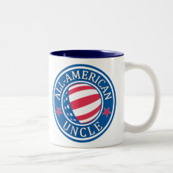 Two-Tone Mug with All-American Uncle design