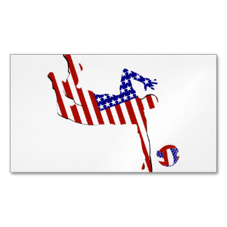 All-American Volleyball Player Business Card Magnet
