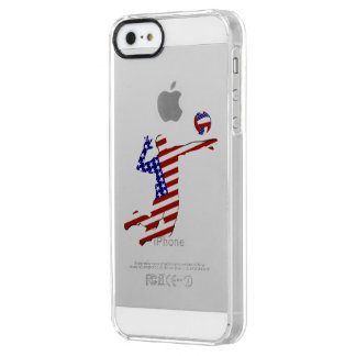 All-American Volleyball Player Clear iPhone SE/5/5s Case