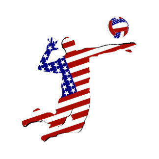 All-American Volleyball Player Cutout