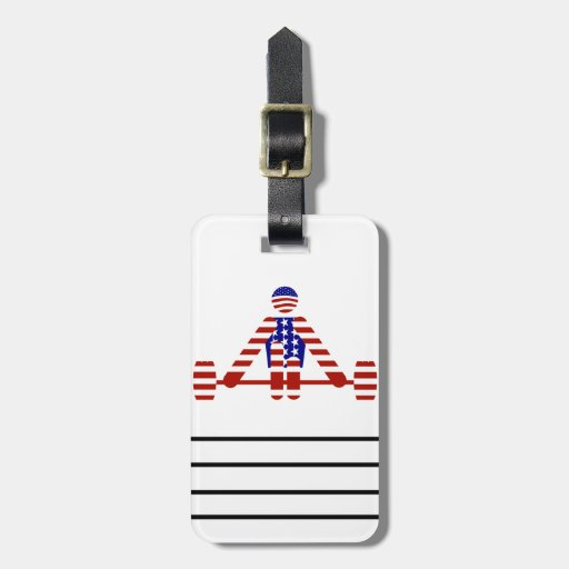 All American Weightlifter - Powerlifting Bag Tag