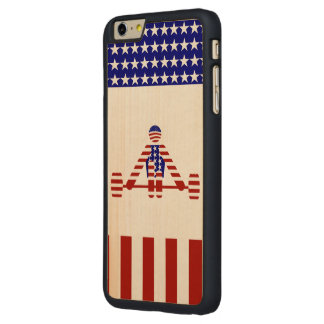All American Weightlifter - Powerlifting Carved® Maple iPhone 6 Plus Slim Case