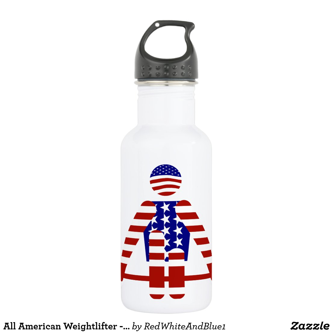 All American Weightlifter - Powerlifting Stainless Steel Water Bottle