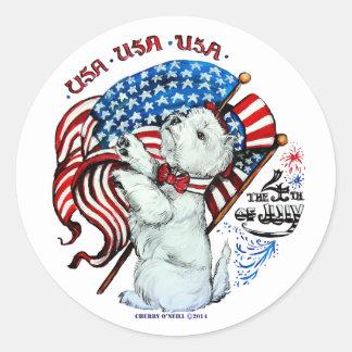 All American Westie Sticker