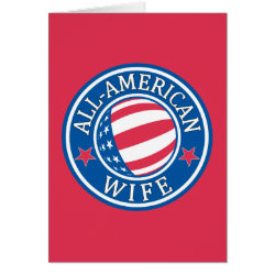Note Card with All-American Wife design