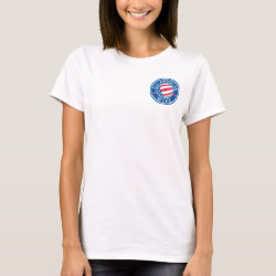 Women's Basic T-Shirt with All-American Wife design