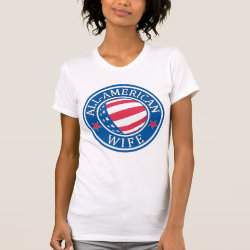 Women's American Apparel Fine Jersey Short Sleeve T-Shirt with All-American Wife design