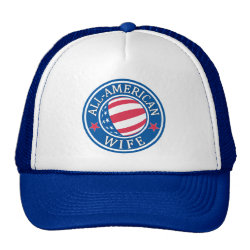 Trucker Hat with All-American Wife design