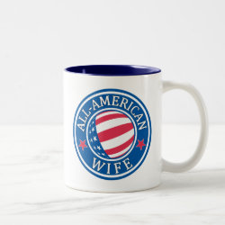 Two-Tone Mug with All-American Wife design