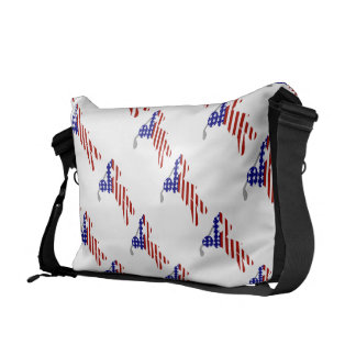 All-American Woman Golfer Courier Bag