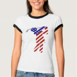 All American Woman Golfer T-Shirt