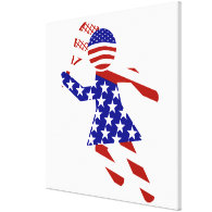 All-American Womens Tennis Player Canvas Print