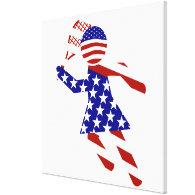 All-American Womens Tennis Player Canvas Print