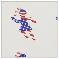 All-American Womens Tennis Player Fabric