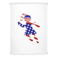 All-American Womens Tennis Player Lamp Shade