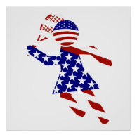 All-American Womens Tennis Player Poster