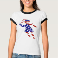 All-American Womens Tennis Player T-Shirt