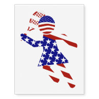 All-American Womens Tennis Player Temporary Tattoos