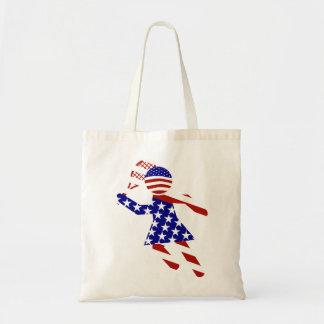 All-American Womens Tennis Player Tote Bag