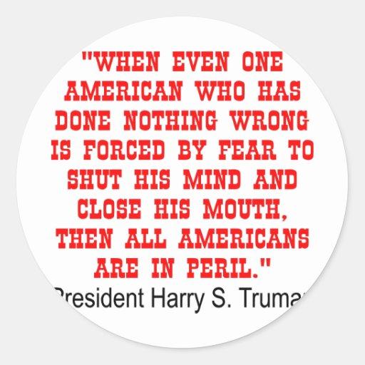 All Americans Are In Peril Classic Round Sticker