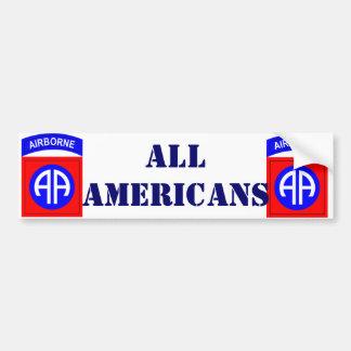 ALL AMERICANS BUMPER STICKER