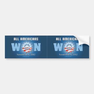 All Americans Won On Nov. 6, 2012 Car Bumper Sticker