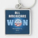 All Americans Won On Nov. 6, 2012 Keychains