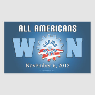 All Americans Won On Nov. 6, 2012 Rectangular Sticker