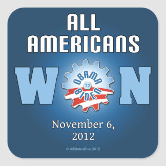 All Americans Won On Nov. 6, 2012 Stickers