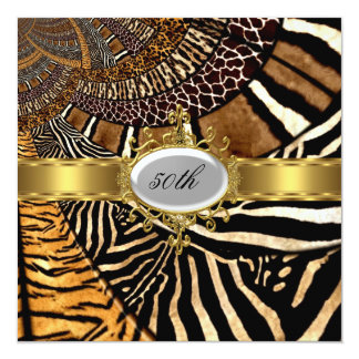 All Animal Skin Look Any Birthday Party Personalized Invitation