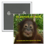 All Animals are Equal 2 Inch Square Button