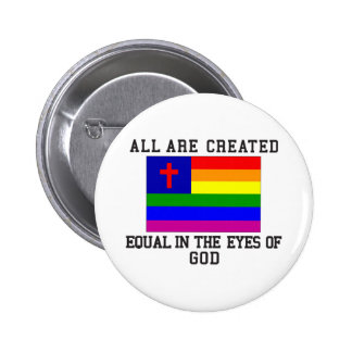 All are Created Equal 2 Inch Round Button