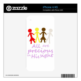 All are precious in His sight Decal For The iPhone 4S