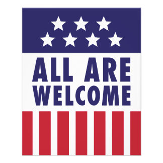 All Are Welcome - Stars and Stripes Flyer