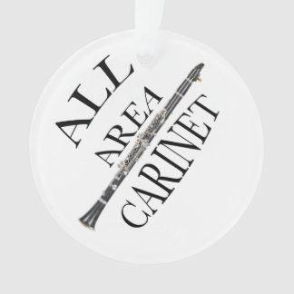 ALL AREA CLARINET PLAYER Button ANY COLOR Ornament
