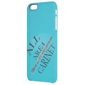 ALL AREA CLARINET PLAYER Iphone Ipad ANY COLOR Clear iPhone 6 Plus Case
