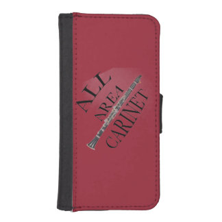 ALL AREA CLARINET PLAYER Iphone Ipad ANY COLOR iPhone SE/5/5s Wallet