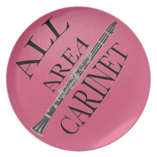 ALL AREA CLARINET PLAYER plate ANY COLOR