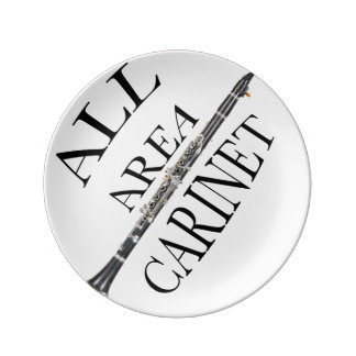 ALL AREA CLARINET PLAYER plate ANY COLOR Porcelain Plates