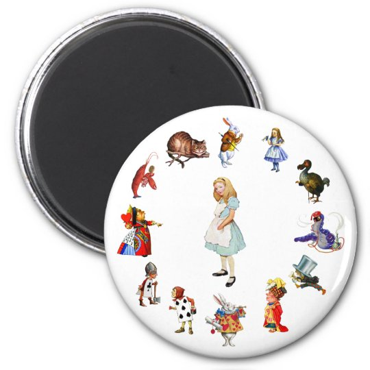 All Around Alice 2 Inch Round Magnet