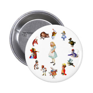 ALL AROUND ALICE PINBACK BUTTONS