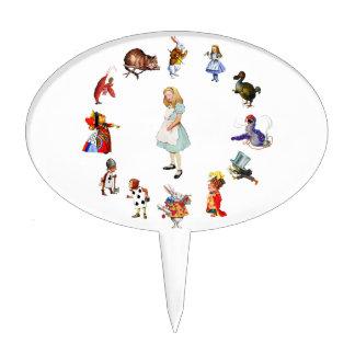 All Around Alice In Wonderland Cake Topper