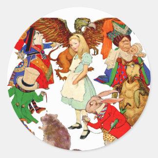 All Around Alice in Wonderland Classic Round Sticker