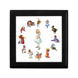 All Around Alice In Wonderland Keepsake Boxes