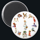 """All Around Alice in Wonderland Magnet<br><div class=""""desc"""">All Around Alice in Wonderland and Through the Looking Glass</div>"""