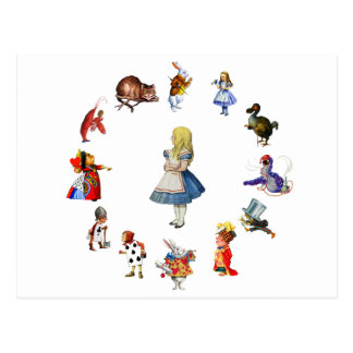 ALL AROUND ALICE IN WONDERLAND POSTCARD