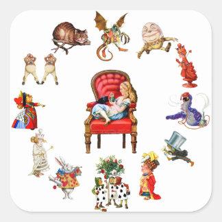 All Around Alice in Wonderland Square Sticker